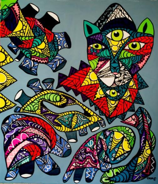 "Adonai Yireh, 2013 (64 1/2"" x 58"")"