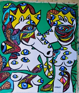 "Lovers' Quest, 2012 (50"" x 60"")"