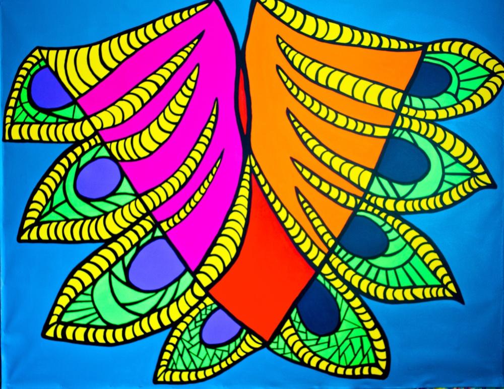 """Quilla, 2014 (64""""w x 52""""h)"""