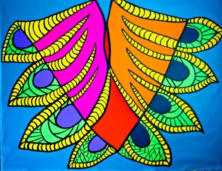"Quilla, 2014 (64""x 52"")"