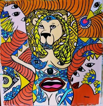 """Mind Twisters, 2013 (52""""x60"""")"""