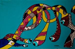 """The Seeker, 2013 (65"""" W x 42"""" L)"""
