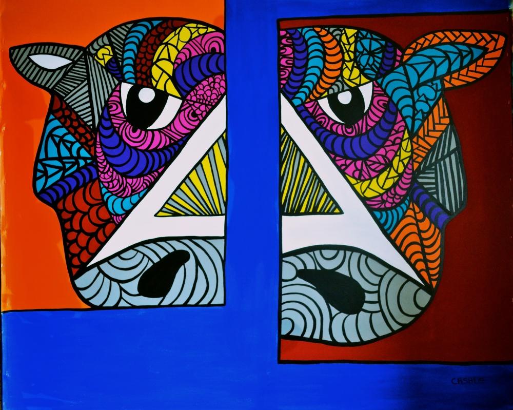 """Aquiles, 2014 (65"""" W x 55"""" L)"""