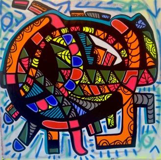 """Inner Flow, 2017, (65"""" x 66"""")"""